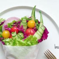 クリスマスパーティーにもおすすめ!お野菜を可愛くみせる、ブーケサラダのススメの画像