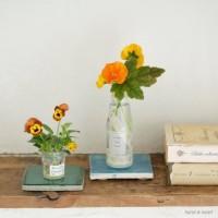 高価な花器がなくたって、身の回りのアイテムでステキに花を飾れます!の画像