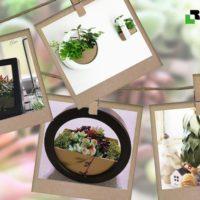 新感覚の花器『デコレア』フレームを使ったインテリア【モニター企画】の画像