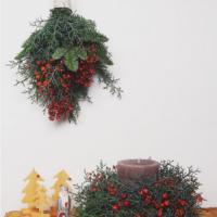 華やかなのにナチュラル。クリスマス仕様のスワッグがステキ!の画像