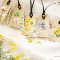 簡単DIY!vol.14「野の花のメルシータグの作り方」の画像