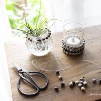 簡単DIY!vol.19「数珠玉で雑貨やアクセサリー」 作り方の画像
