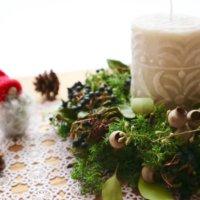 リビングに飾りたい!クリスマス仕様のキャンドルの画像