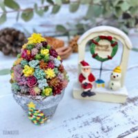 マネしたくなる!クリスマスは多肉植物のツリーを飾って楽しもう♫の画像