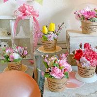 親子でつくろう!春のひな祭りにぴったりなフラワーカップケーキの画像